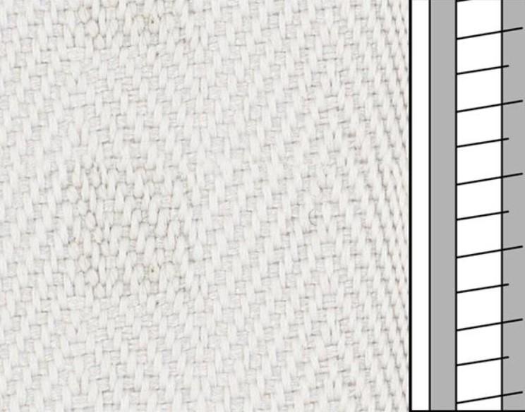 1m / Textilstegband  F0556 44/53/T25 Aluminium (best.vara 10 dgr)
