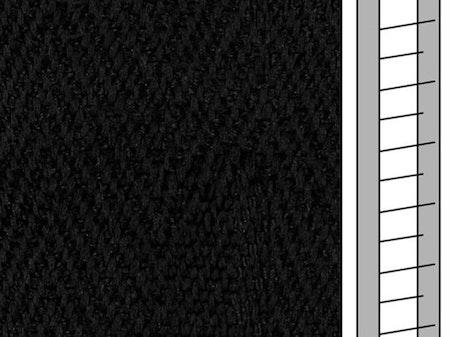 1 m / Textilstegband D35T F0532 31/38/T16 Black (best.vara)