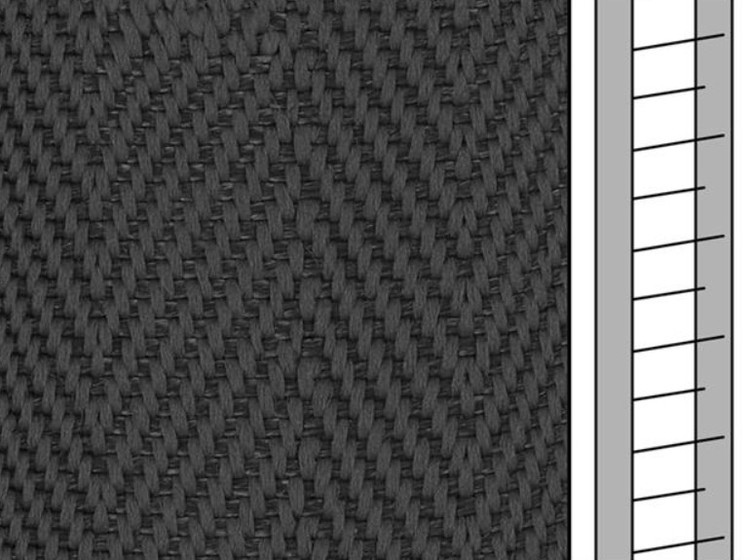 1 m / Textilstegband D35T F0533 31/38/T16 dark grey (best.vara 10 dgr)