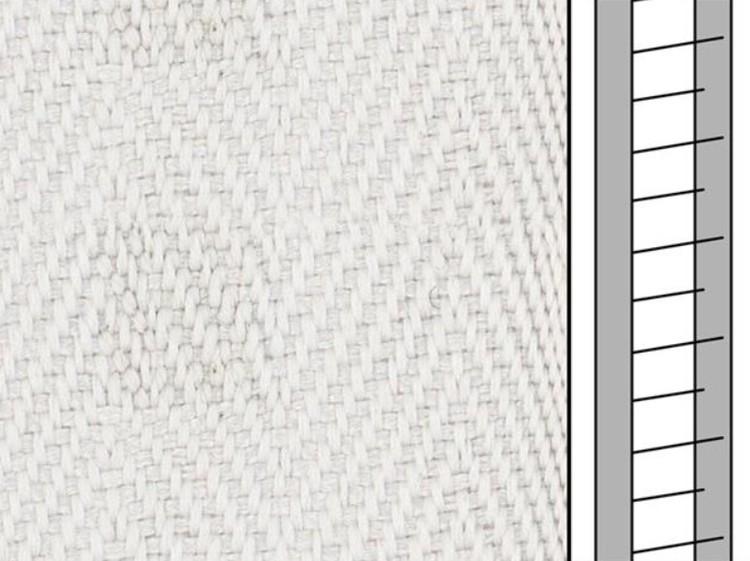 1 m / Textilstegband D35T F0556 31/38/T16 aluminium (best.vara 10 dgr)