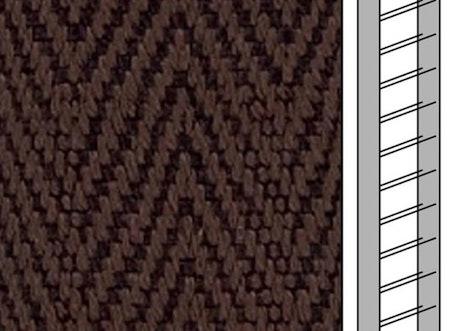 Textilstegband C8018 22,5/28/T13 cacao (best.vara 10 dgr)