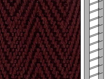 Textilstegband C0810 22,5/28/T13 brown (best.vara 10 dgr)
