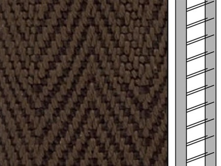 Textilstegband  C8003 22,5/28/T13 walnut (best.vara 10 dgr)