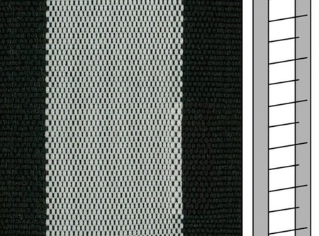 Textilstegband ZD50T FM577 44/53/T38 white-black  (best.vara 10 dgr)