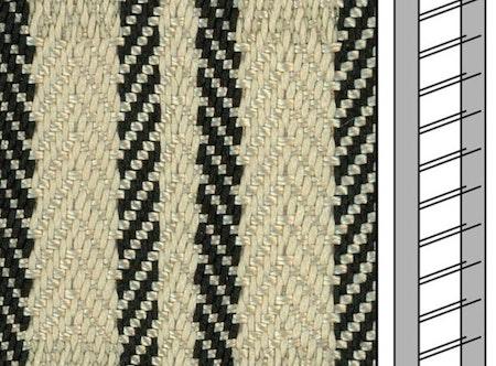 1 m / Textilstegband ZD50T FG580 44/53/T38 cream  (best.vara 10 dgr)