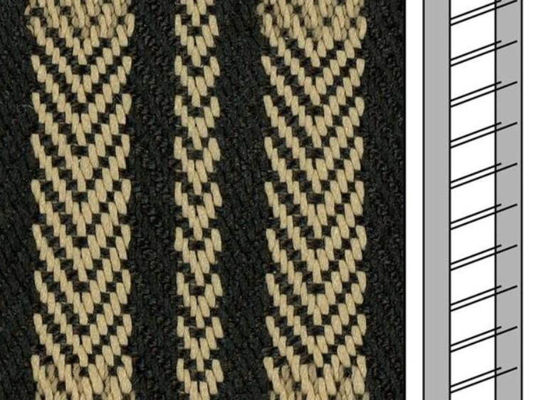 1 m / Textilstegband ZD50T FG582 44/53/T38 black