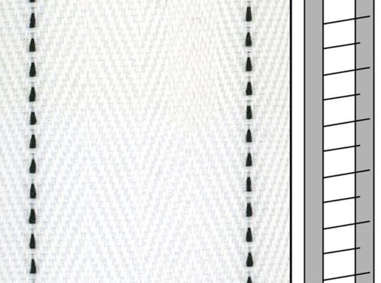 1 m / Textilstegband FS557 44/53/T38 white