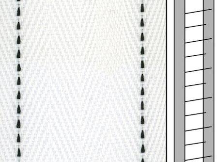 1 m / Textilstegband FS557 44/53/T38 white  (best.vara 10 dgr)