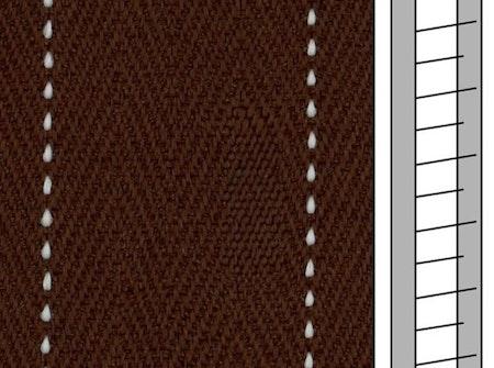 1 m / Textilstegband FS560 44/53/T38 brown  (best.vara 10 dgr)