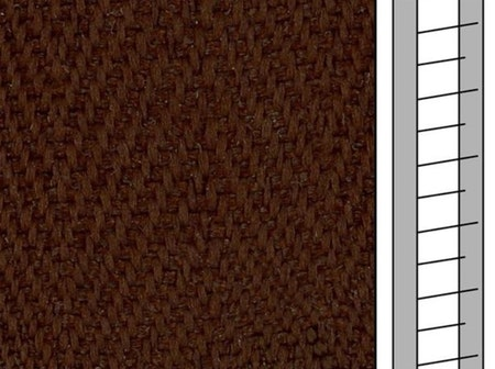 1 m / Textilstegband F0524 44/53/T38 cocoa  (best.vara 10 dgr)
