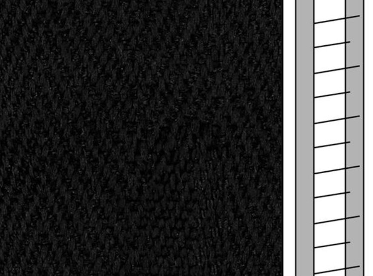 1 m / Textilstegband F0532 44/53/T38 black  (best.vara 10 dgr)