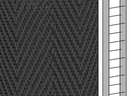 1 m / Textilstegband F0533 44/53/T38 dark grey  (best.vara 10 dgr)