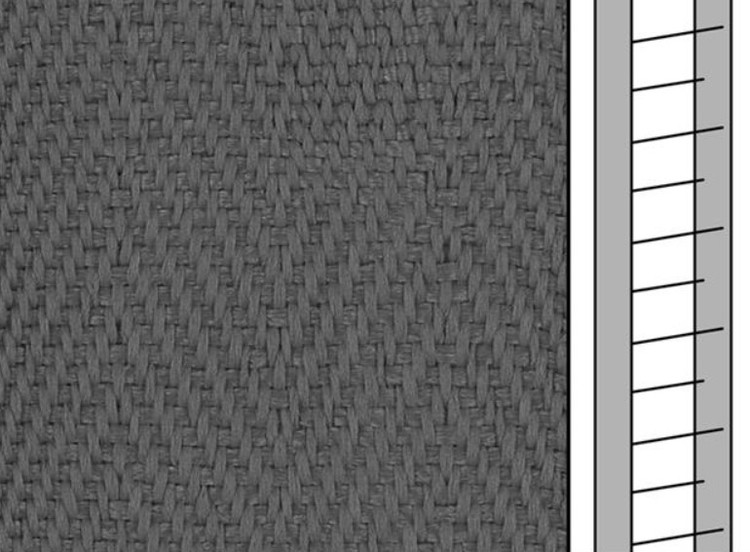 1 m / Textilstegband F0539 44/53/T38 acera