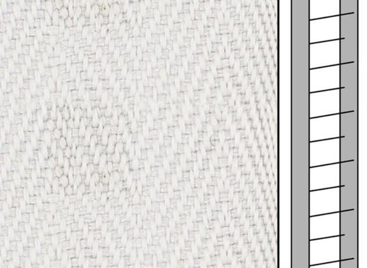 1 m / Textilstegband F0556 44/53/T38 aluminium (best.vara 10 dgr)