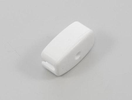 Ändlock för stål drop profil vit
