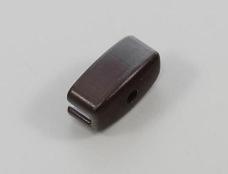 Ändlock för stål drop profil brun