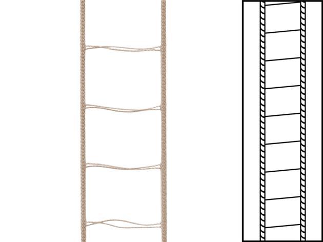1 m / Stegsnören till persienner 25 mm Mörk Beige(best.vara min30 m)