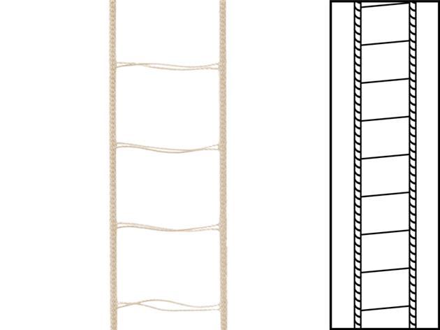 1 m / Stegsnören till persienner 25 mm Mocca (best.vara min30 m)