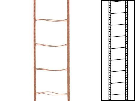 30 m / Stegsnören till persienner 25 mm Ginger (best.vara min30 m)