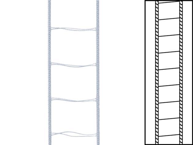 1 m / Stegsnören till persienner 25 mm Silver (best.vara min30 m)