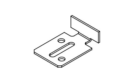 Upphängningsbleck 16 mm kort VIT (A30G)