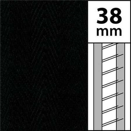 1 m / Textilstegband LT50 38/44/53-BK Black (best.vara min.10m)