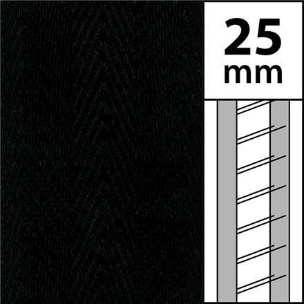 1m / Textilstegband LT50-25-44-53-BK Black (best.vara 10 dgr)