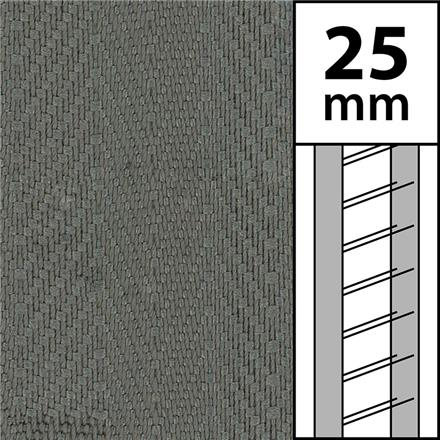 1m / Textilstegband LT50-25-44-53-GY Grey (best.vara 10 dgr)