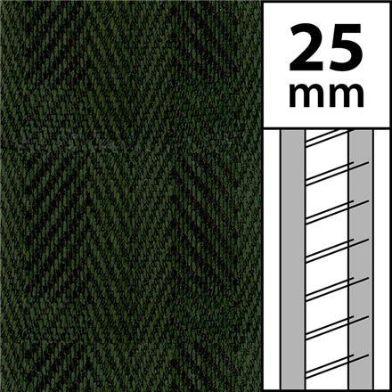 1m / Textilstegband LT50-25-44-53-GR Green (best.vara 10 dgr)