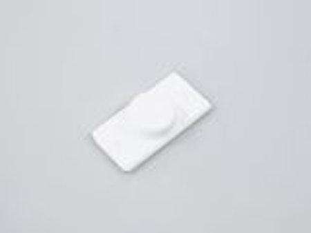 1 st Magnet ZDD platt VIT för tejpomontering (A29FG)