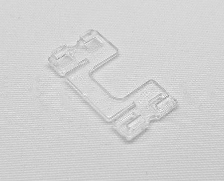 Lamellclips Platt 25 mm Lexan Plast (A01H+D01)