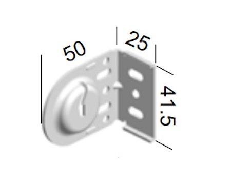Monteringsbeslag (skåra) VIT fjädermekanism 25 mm (A27JK)