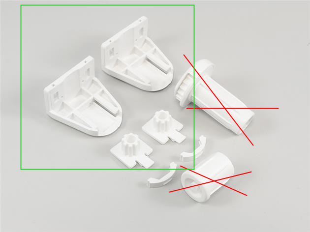 Monteringsset rullgardin 19 mm utan mekanism VIT (A03HKN)