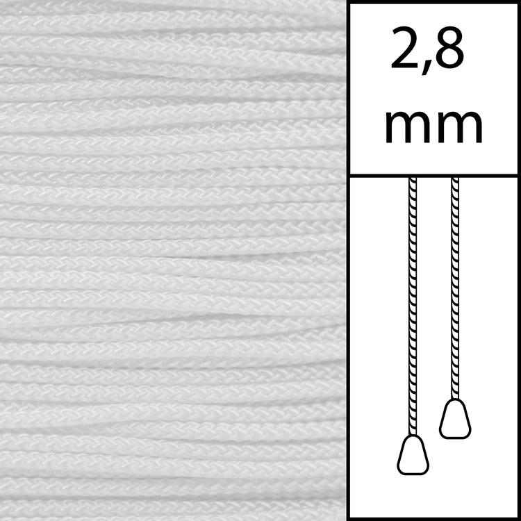 20 m / Persiennlina 2,8 mm White (WT)  (best.vara min.20m)