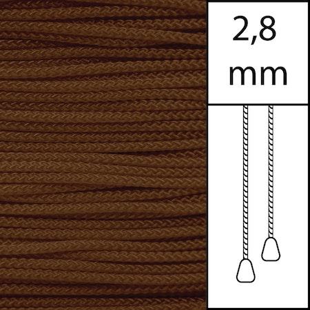 20 m / Persiennlina 2,8 mm (WN) Walnut  (best.vara min.20m)