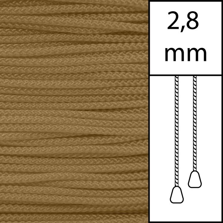 20 m / Persiennlina 2,8 mm (DB) Dark beige  (best.vara min.20m)