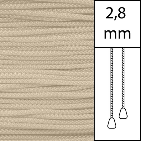 1 m / Persiennlina 2,8 mm (BG) Beige  (LAGER-VARA)