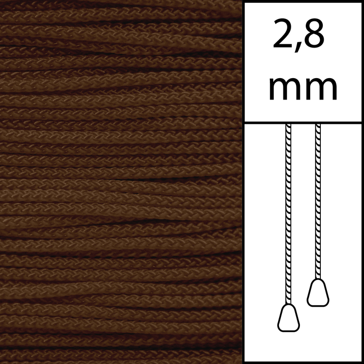 20 m / Persiennlina 2,8 mm (CC) Cacao  (best.vara min.20m)