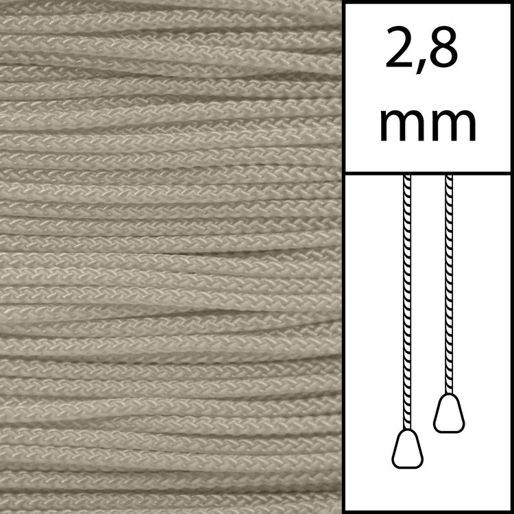 20 m / Persiennlina 2,8 mm (OY) Oyster  (best.vara min.20m)