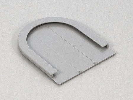 Täcksida för beslag GRÅ fjädermekanism 38 mm (A35L)