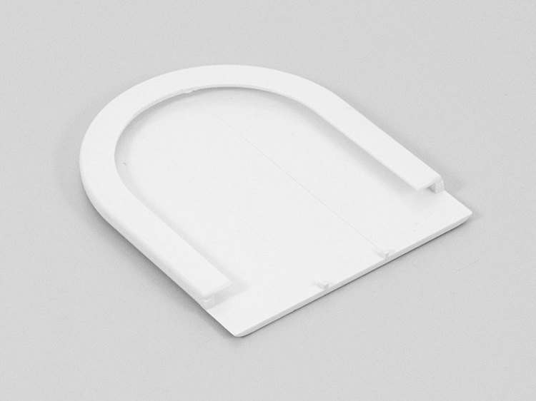 Täcksida för beslag vit fjädermekanism 38 mm (A35M)