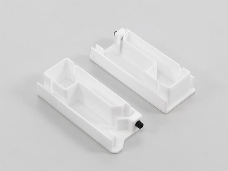 RC side guide-end-cap bottom white (set)