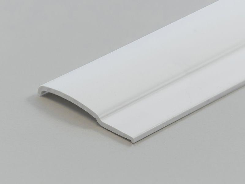 1 st / Sido-skena PVC-Vit Platt 31 mm med tejp (max 120 cm)