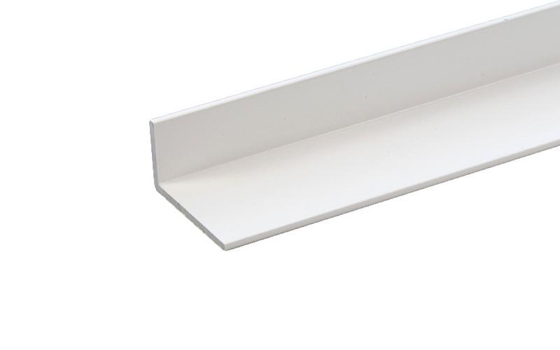 1 st / Sido-skena PVC-Vit VINKLAD 27 x 12 mm med tejp (max 120 cm)