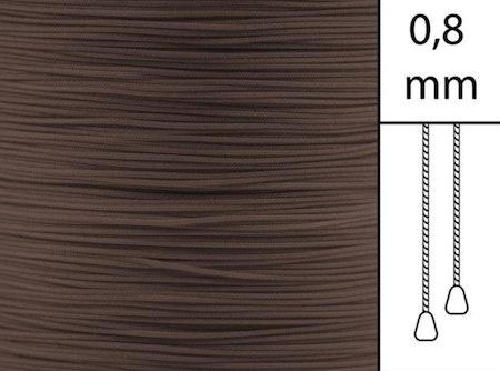 1 m / Persiennlina 0,8 mm A25 Dark brown (Lagervara)