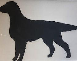 Flatcoated retriever vinyl silhouette standing