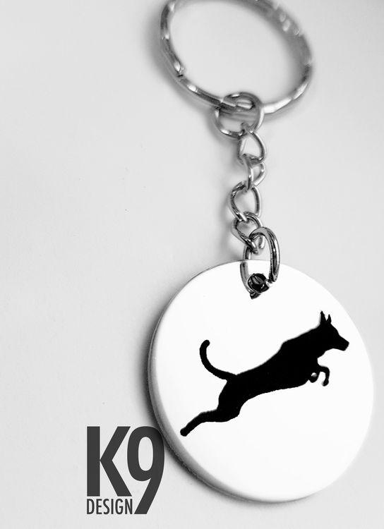 Dog breed silhouette key chain
