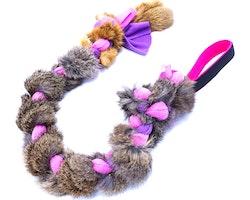 Fleeceleksak 75cm med kaninskinn