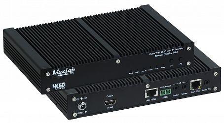 Muxlab AV över IP, HDMI 4K@60, Mottagare, 10Gbit