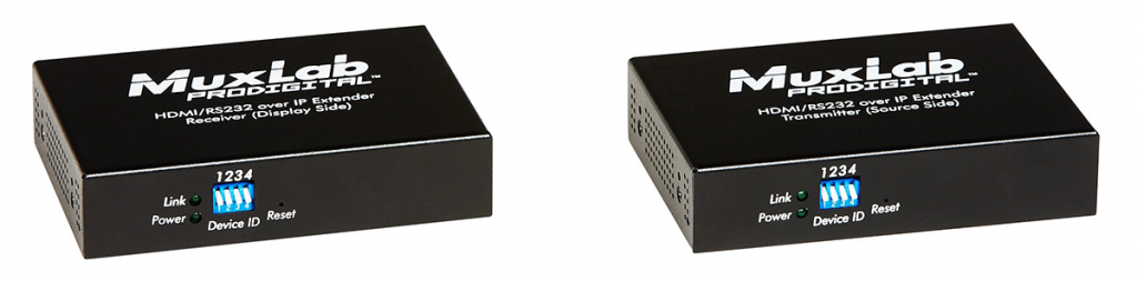 Muxlab HDMI & RS232 över IP Mottagare, PoE, 100 m
